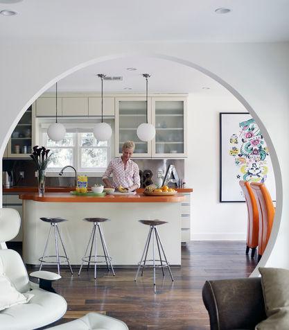 Divisorio arco cucina domus management - Cucina con arco ...